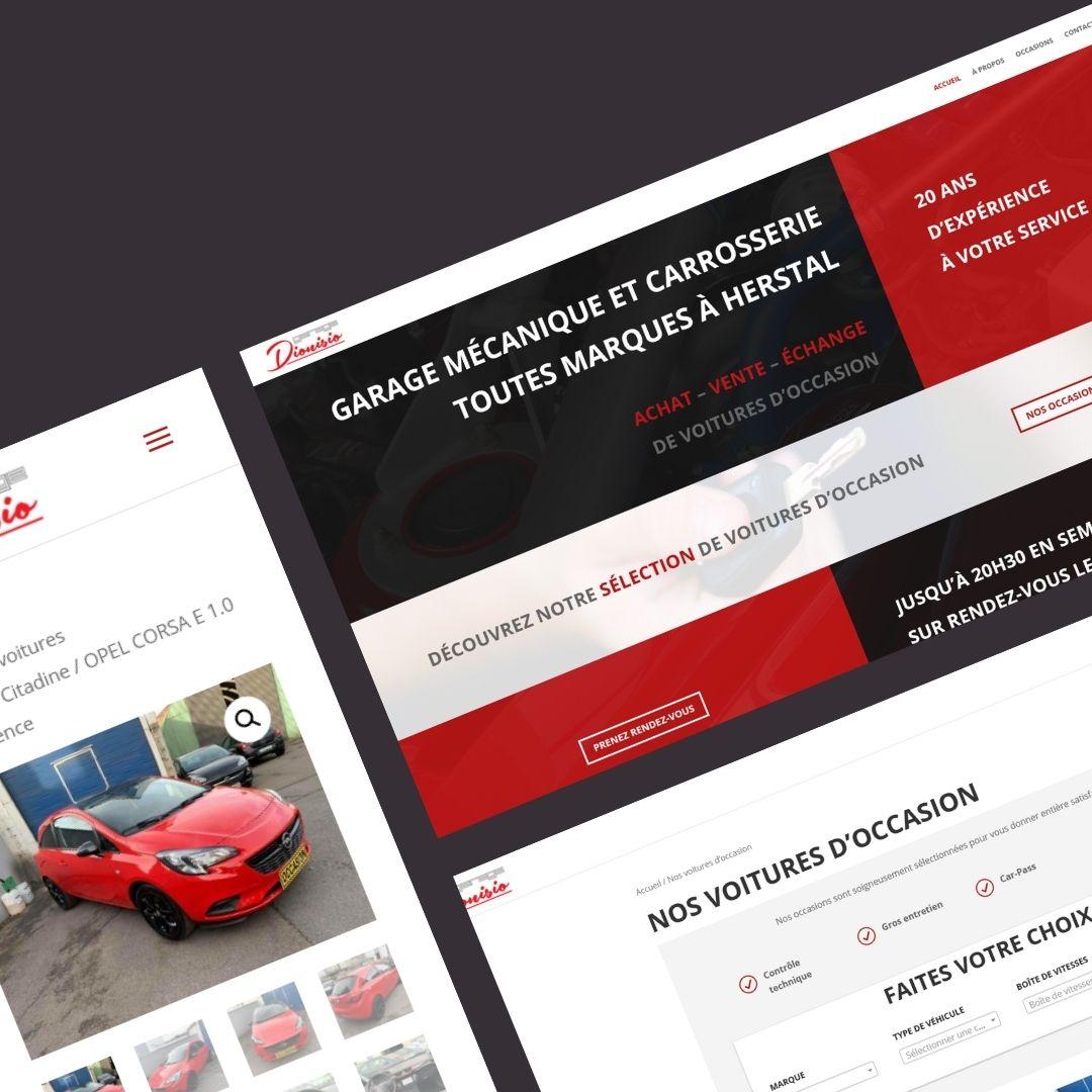 Création site internet Herstal garage Dionisio